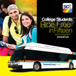 College Students ride free!